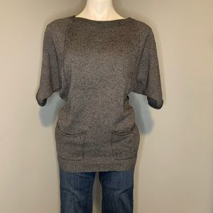 BCBG grey sweater top